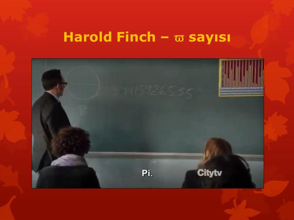 Harold Finch – ϖ sayısı