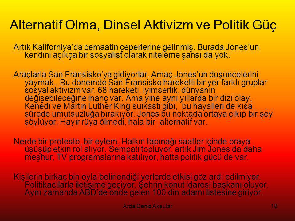 Alternatif Olma, Dinsel Aktivizm ve Politik Güç
