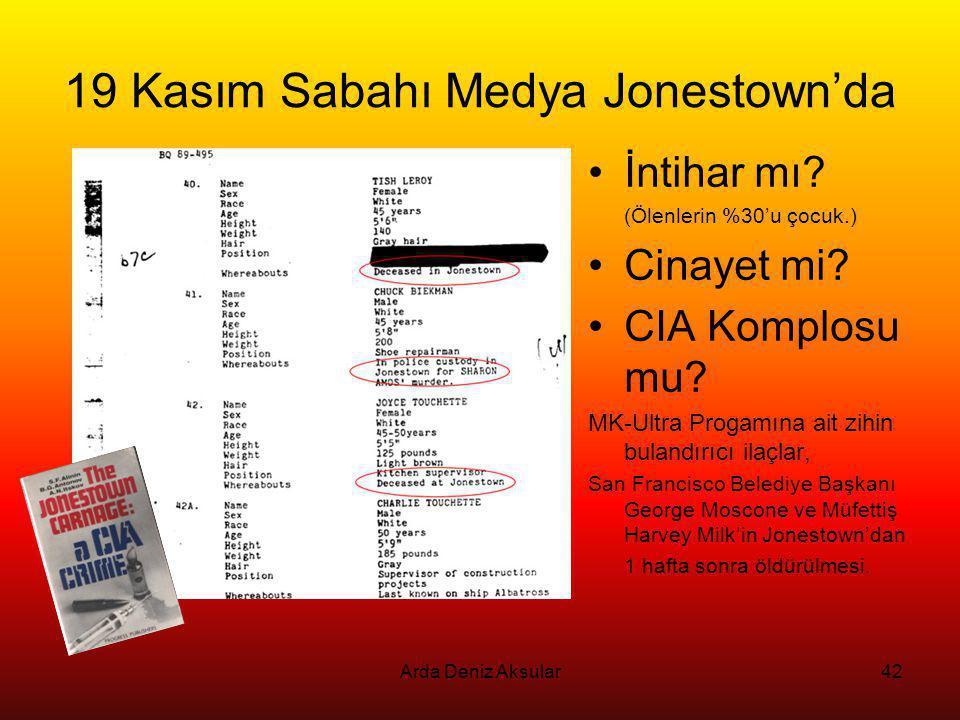19 Kasım Sabahı Medya Jonestown'da