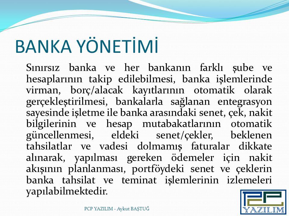 BANKA YÖNETİMİ