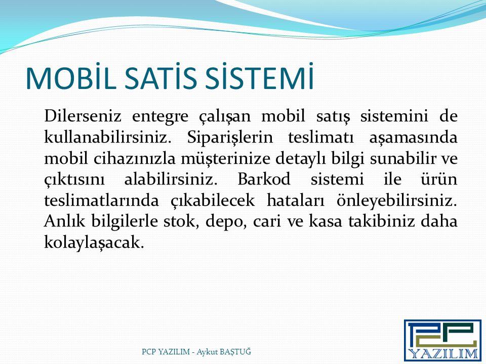 MOBİL SATİS SİSTEMİ