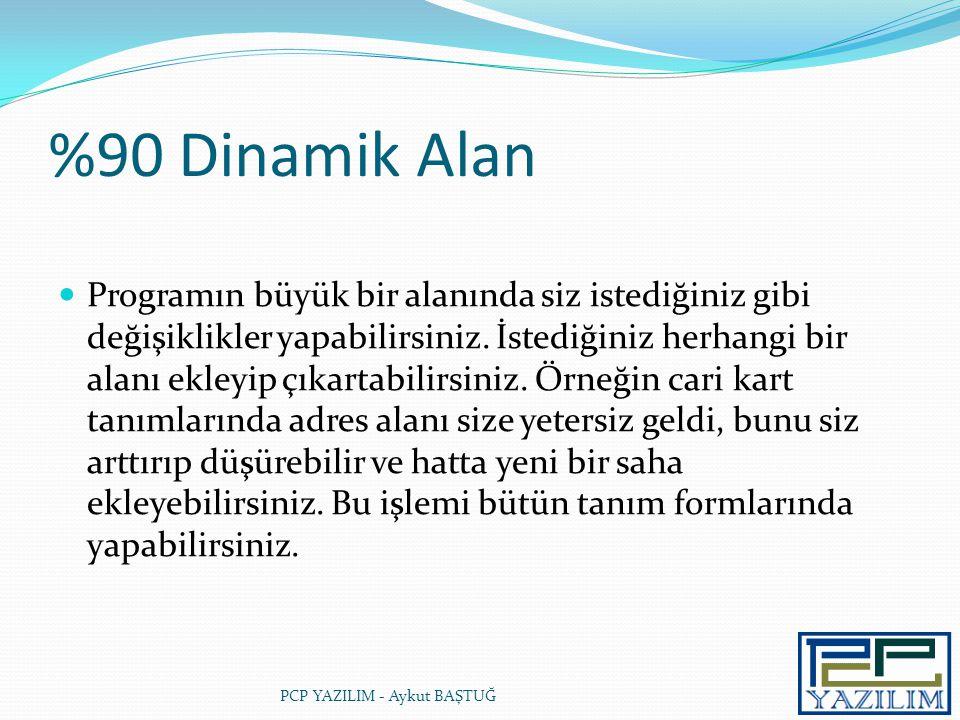 %90 Dinamik Alan