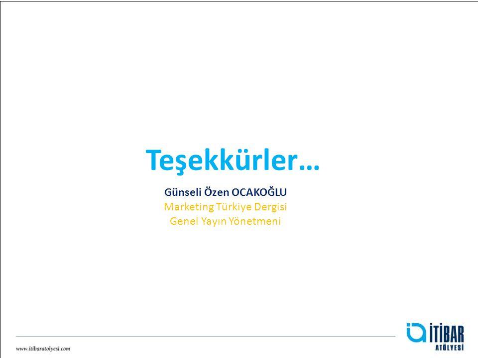 Günseli Özen OCAKOĞLU Marketing Türkiye Dergisi Genel Yayın Yönetmeni