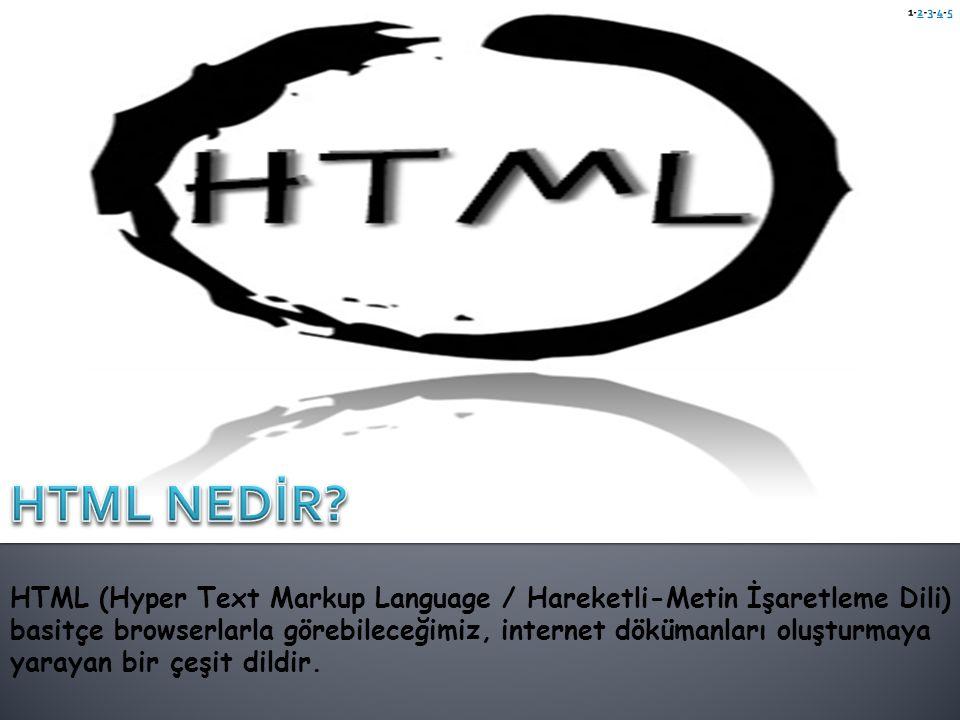 1-2-3-4-5 HTML NEDİR