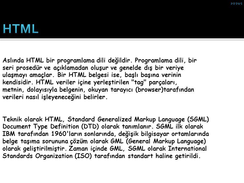 1-2-3-4-5 HTML.
