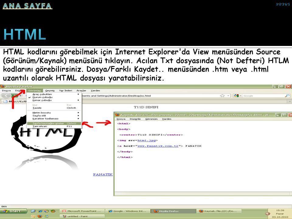ANA SAYFA 1-2-3-4-5. HTML.
