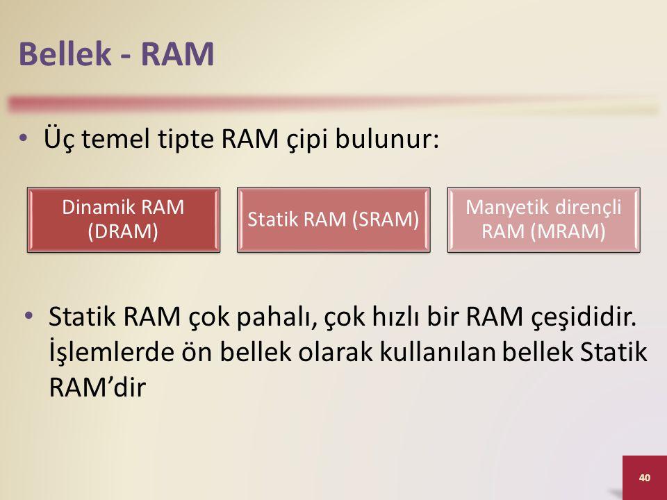 Manyetik dirençli RAM (MRAM)