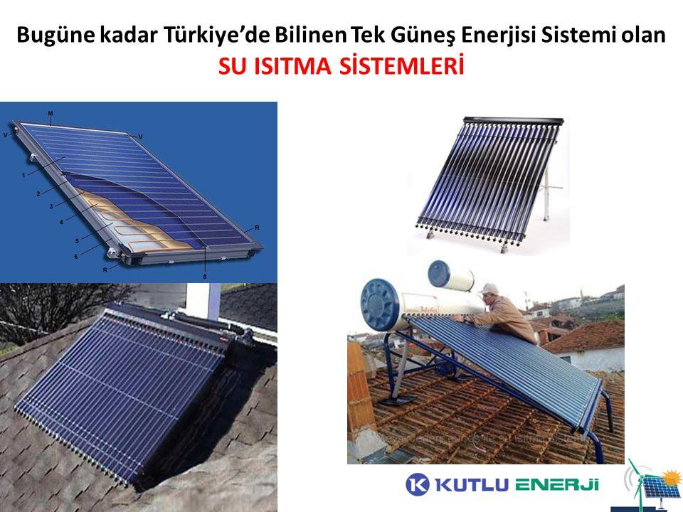 Bugüne kadar Türkiye'de Bilinen Tek Güneş Enerjisi Sistemi olan SU ISITMA SİSTEMLERİ