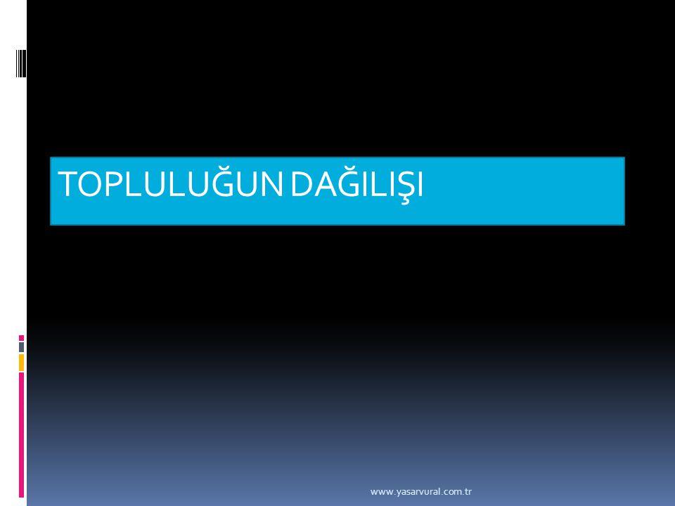 TOPLULUĞUN DAĞILIŞI www.yasarvural.com.tr