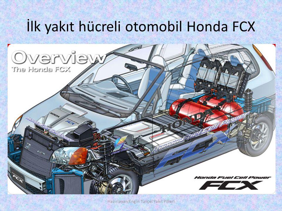 İlk yakıt hücreli otomobil Honda FCX