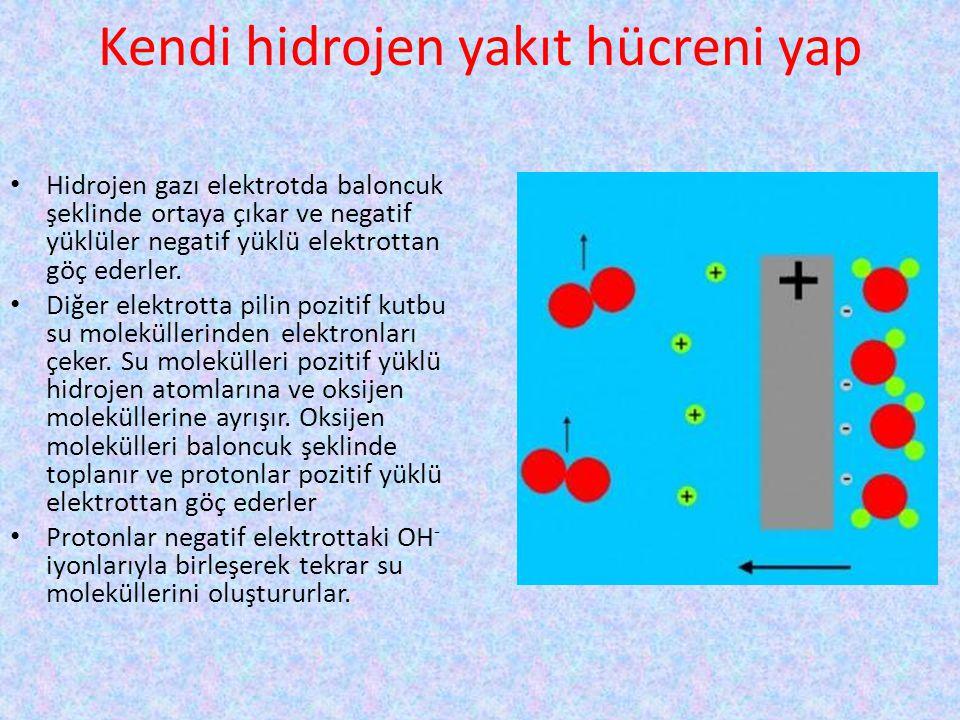 Kendi hidrojen yakıt hücreni yap
