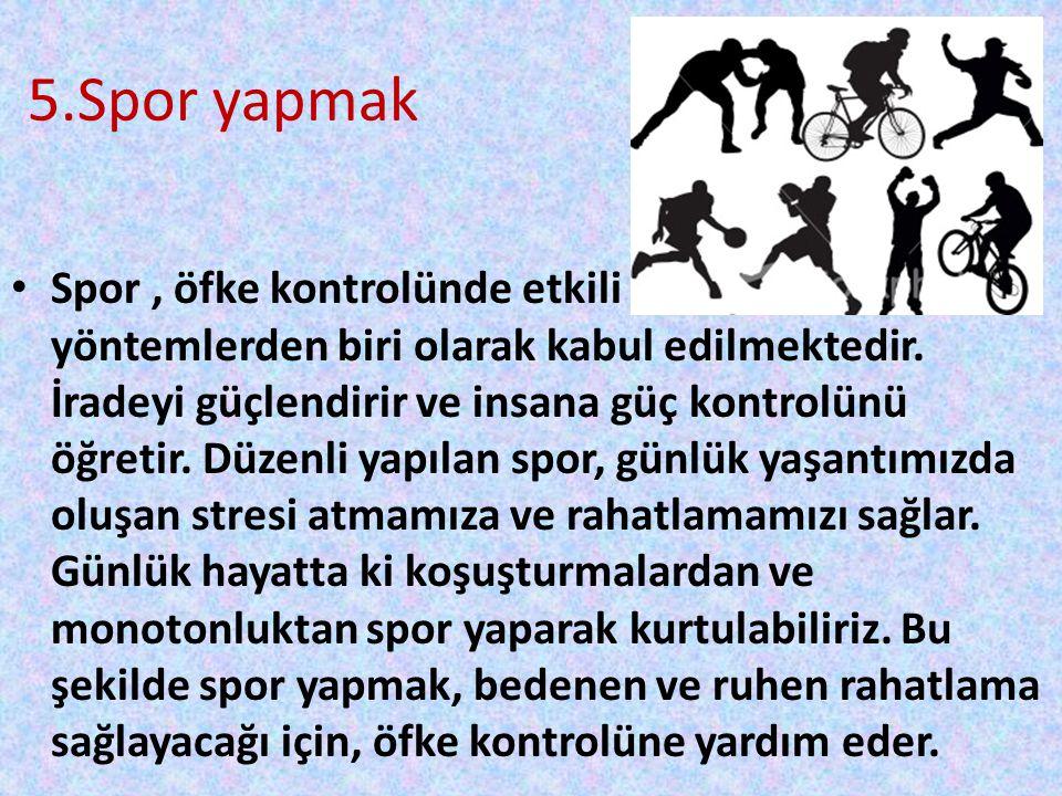 5.Spor yapmak