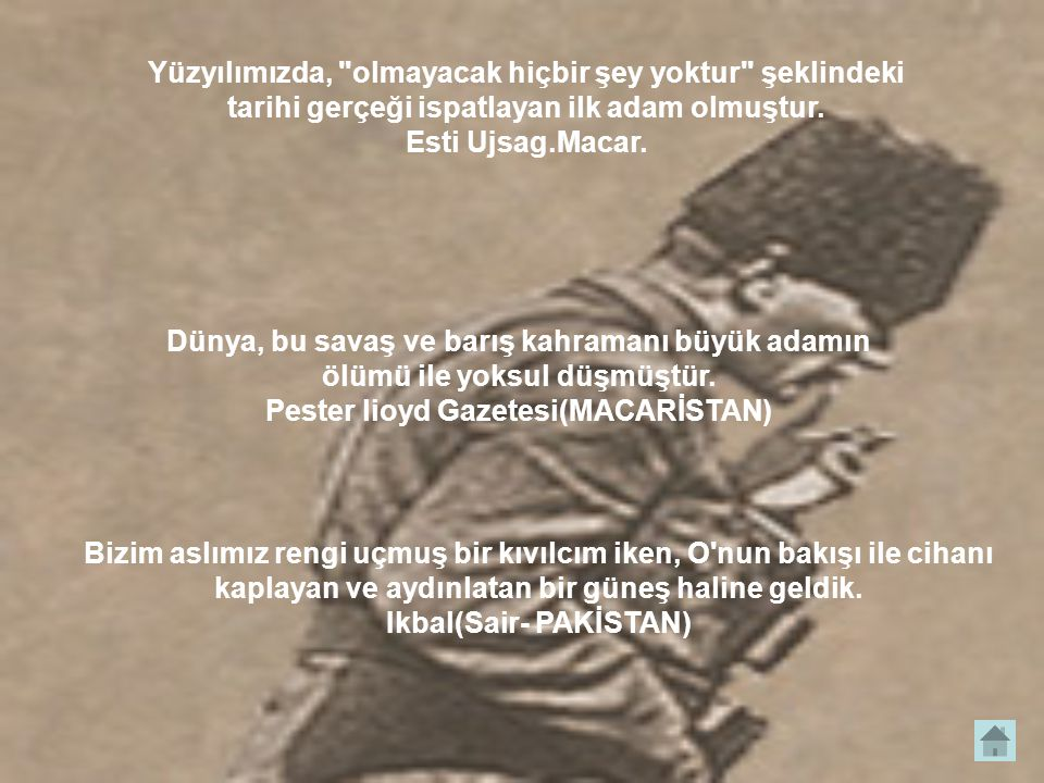 Pester lioyd Gazetesi(MACARİSTAN) Ikbal(Sair- PAKİSTAN)