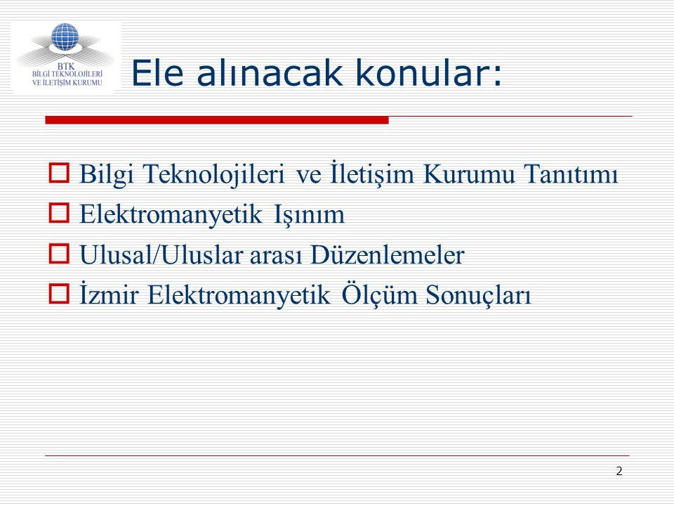 Ele alınacak konular: Bilgi Teknolojileri ve İletişim Kurumu Tanıtımı