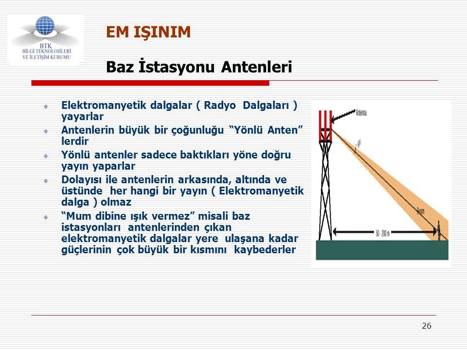 Baz İstasyonu Antenleri