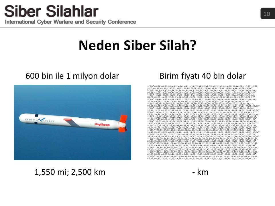 Neden Siber Silah 600 bin ile 1 milyon dolar