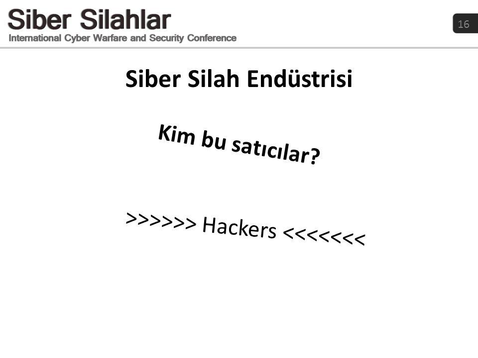 Siber Silah Endüstrisi