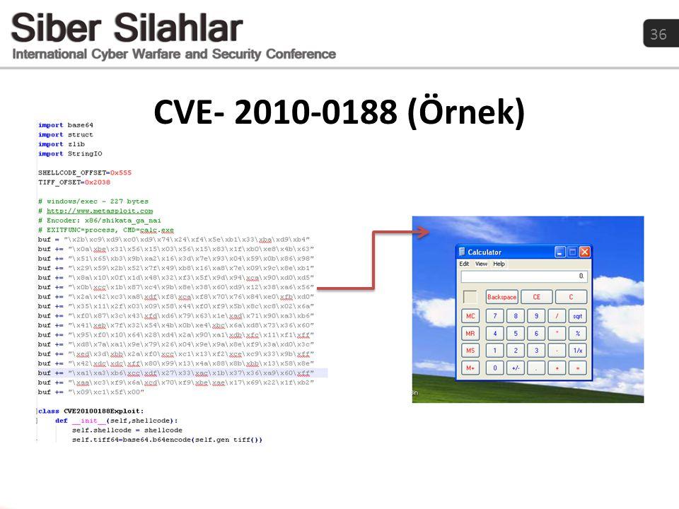 CVE- 2010-0188 (Örnek)