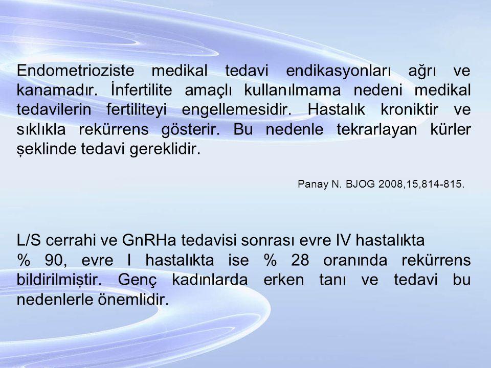 L/S cerrahi ve GnRHa tedavisi sonrası evre IV hastalıkta