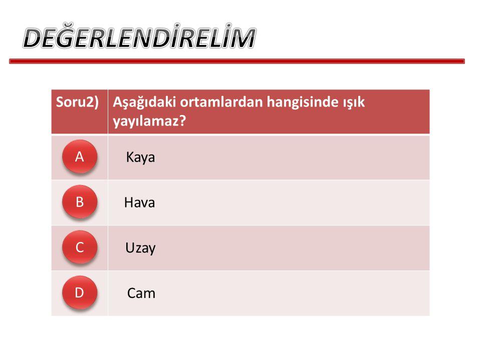 DEĞERLENDİRELİM Soru2)