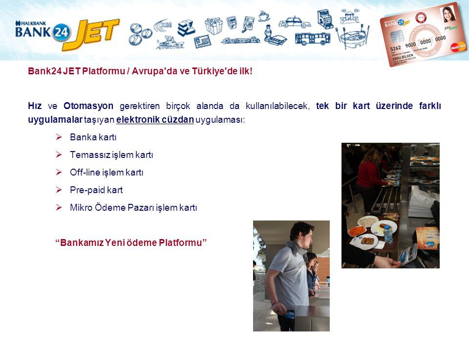Bank24 JET Platformu / Avrupa da ve Türkiye de ilk!