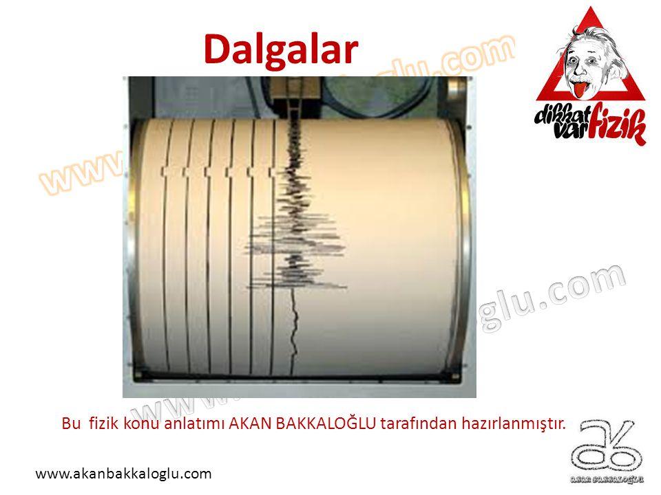 Dalgalar Bu fizik konu anlatımı AKAN BAKKALOĞLU tarafından hazırlanmıştır. www.akanbakkaloglu.com