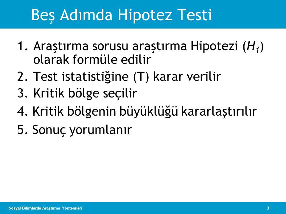 Beş Adımda Hipotez Testi