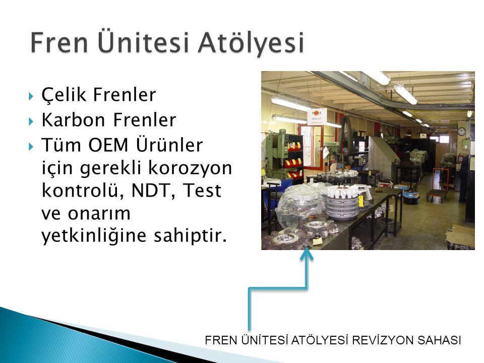 Fren Ünitesi Atölyesi Çelik Frenler Karbon Frenler