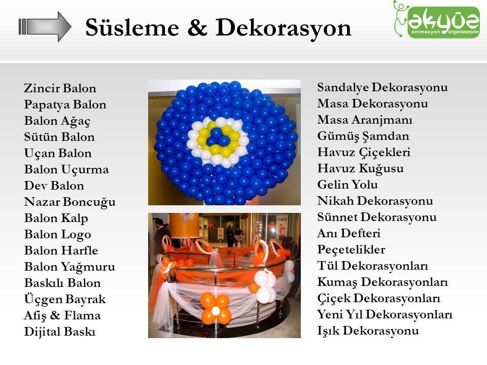 Süsleme & Dekorasyon Zincir Balon Sandalye Dekorasyonu Papatya Balon