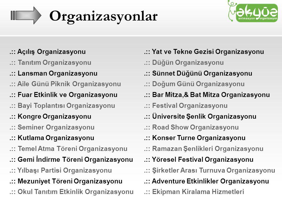 Organizasyonlar .:: Açılış Organizasyonu .:: Tanıtım Organizasyonu
