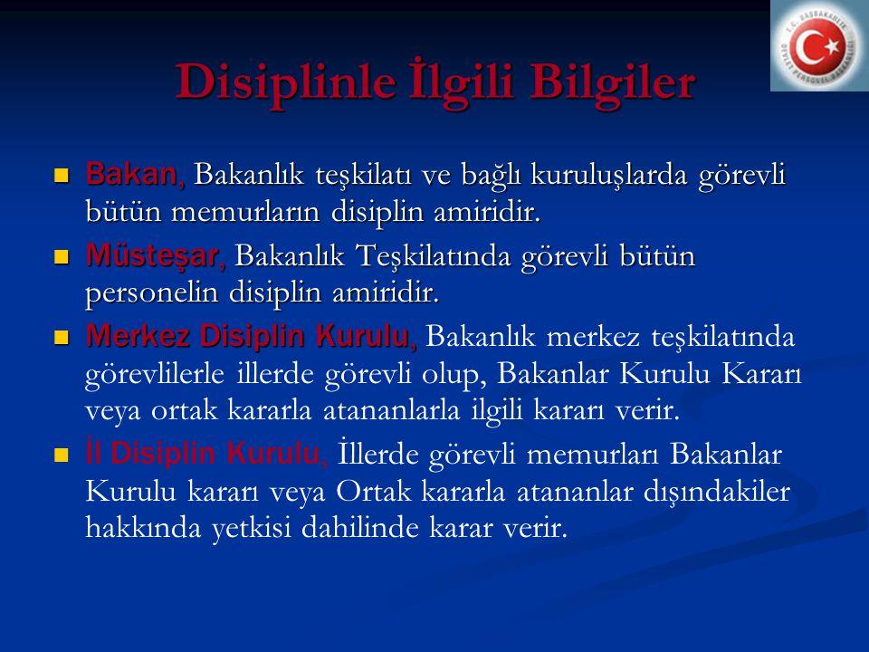 Disiplinle İlgili Bilgiler