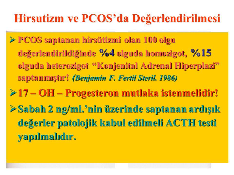 Hirsutizm ve PCOS'da Değerlendirilmesi