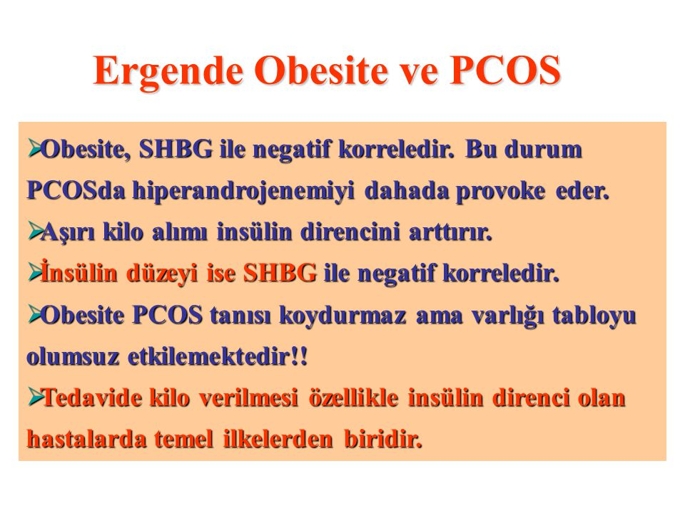 Ergende Obesite ve PCOS