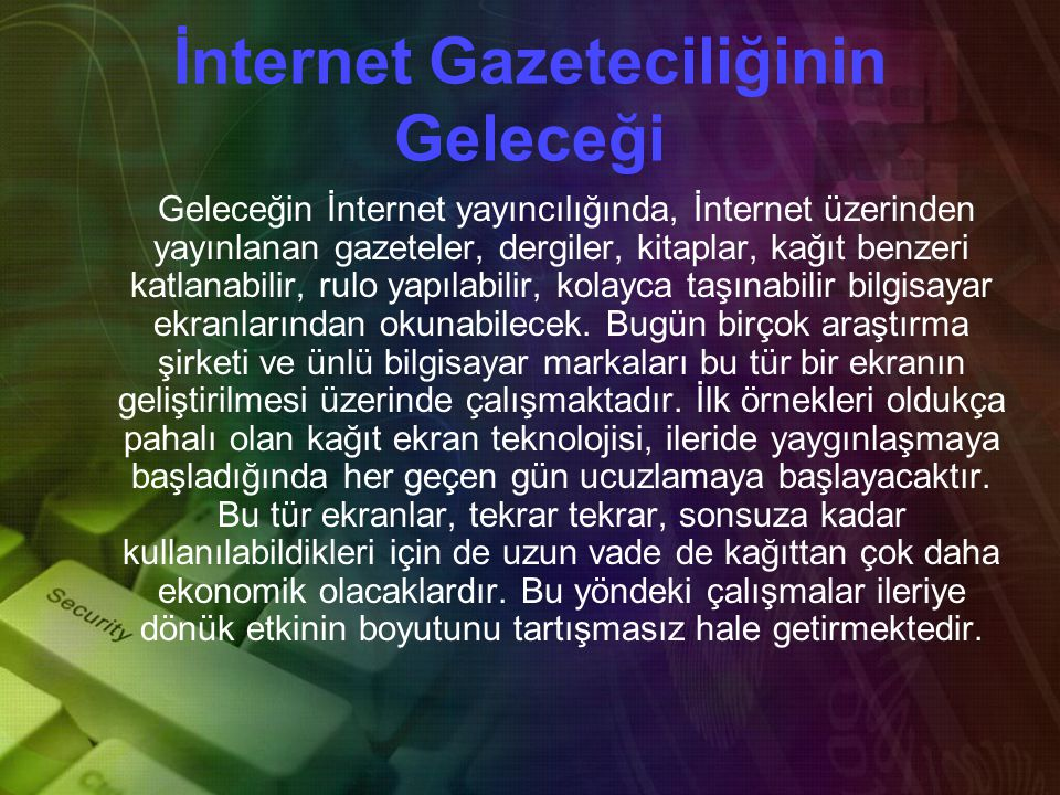 İnternet Gazeteciliğinin Geleceği