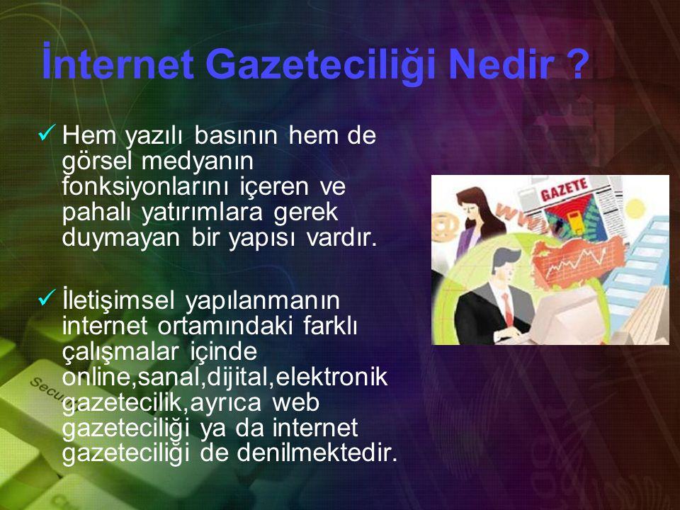İnternet Gazeteciliği Nedir