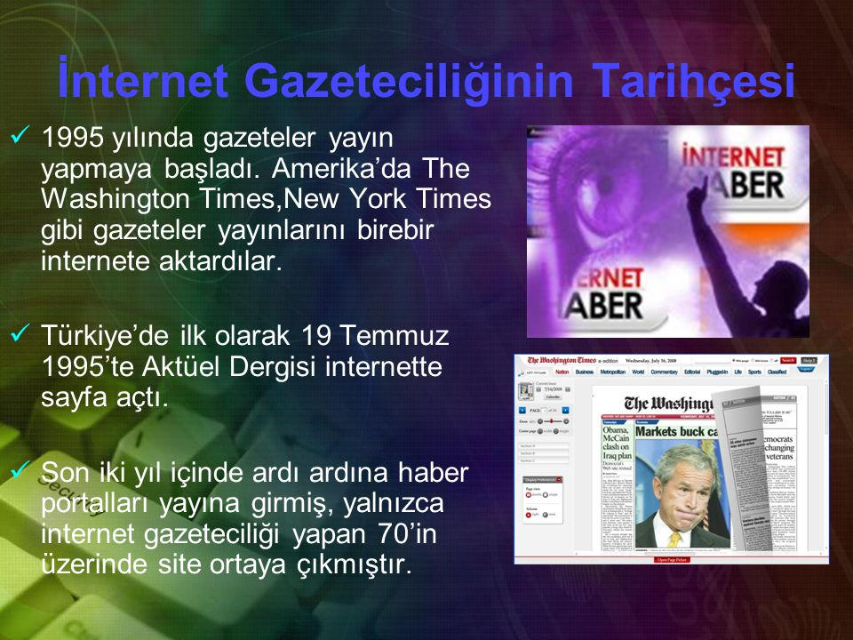 İnternet Gazeteciliğinin Tarihçesi
