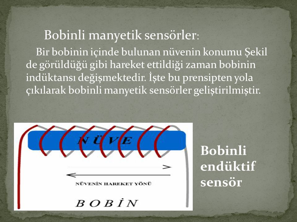 Bobinli endüktif sensör