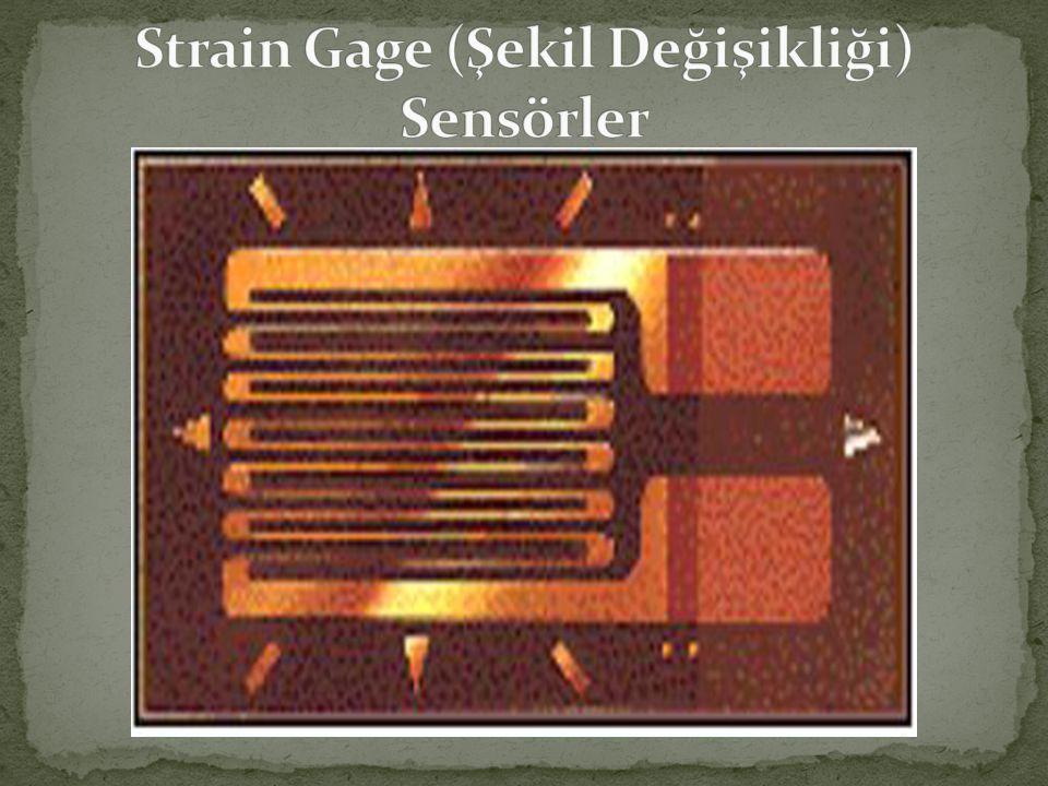 Strain Gage (Şekil Değişikliği) Sensörler