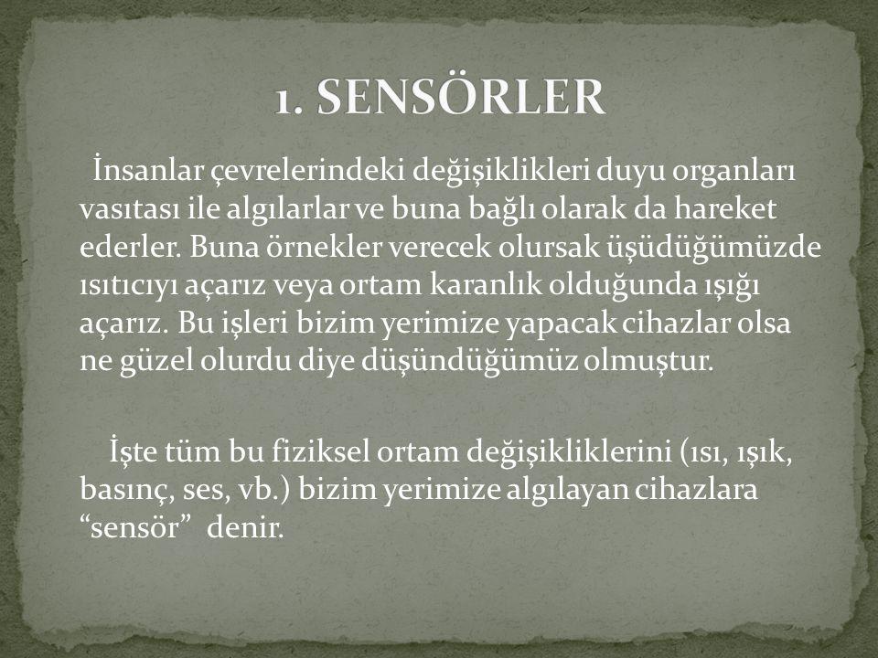 1. SENSÖRLER