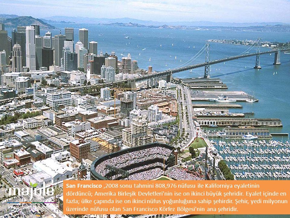 San Francisco ,2008 sonu tahmini 808,976 nüfusu ile Kaliforniya eyaletinin dördüncü; Amerika Birleşik Devletleri nin ise on ikinci büyük şehridir.