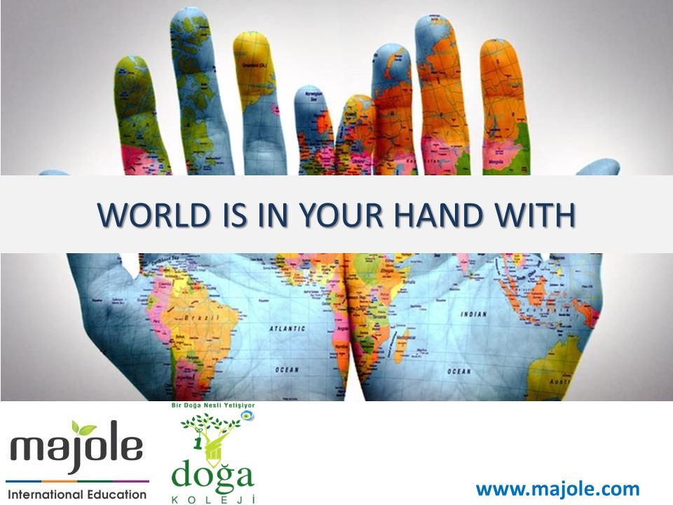 WORLD IS IN YOUR HAND WITH