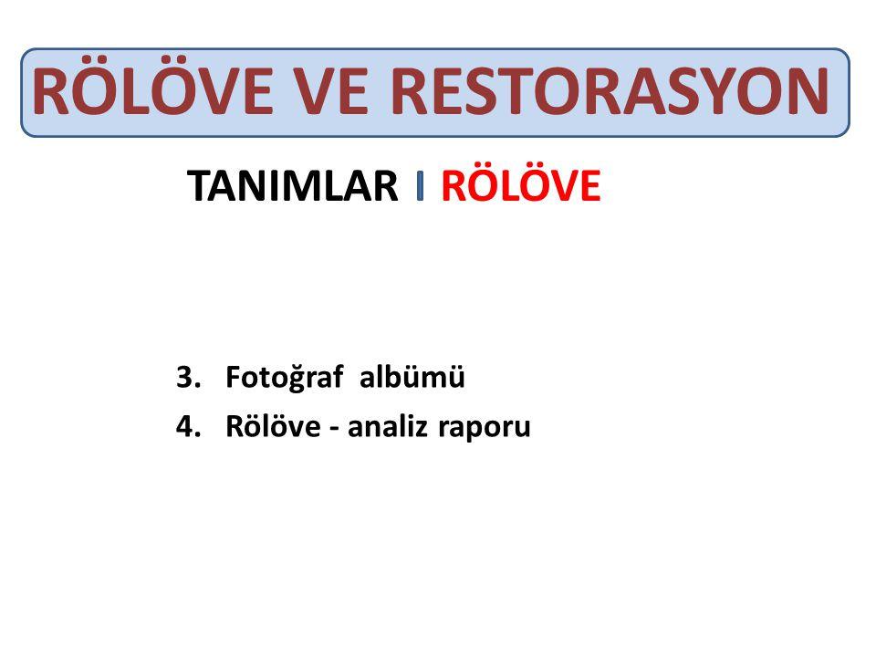 Fotoğraf albümü Rölöve - analiz raporu
