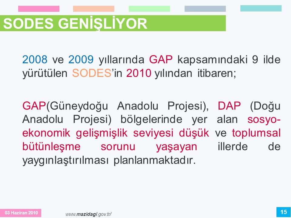 SODES GENİŞLİYOR