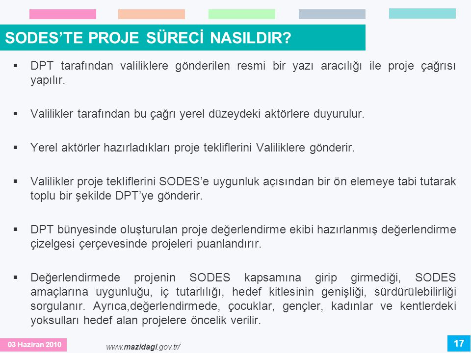 SODES'TE PROJE SÜRECİ NASILDIR