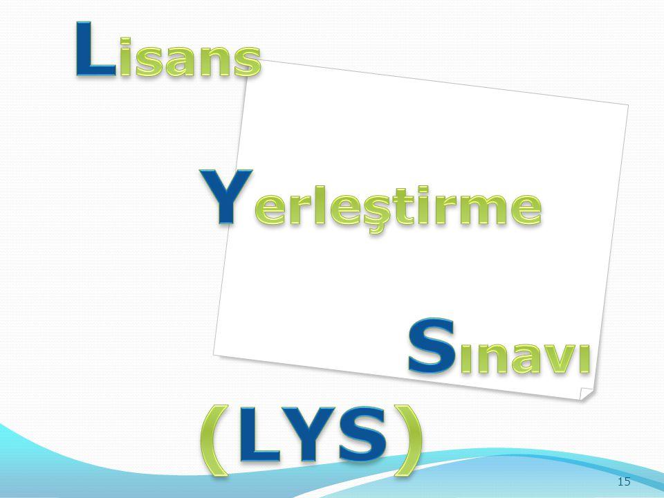Lisans Yerleştirme Sınavı (LYS)
