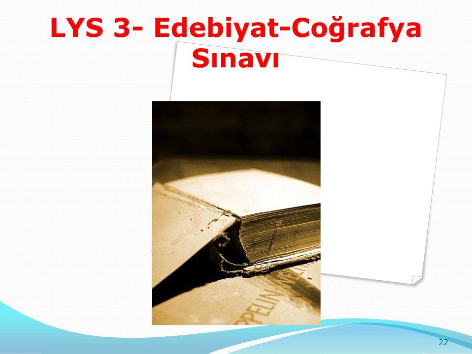 LYS 3- Edebiyat-Coğrafya Sınavı