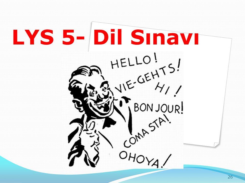 LYS 5- Dil Sınavı