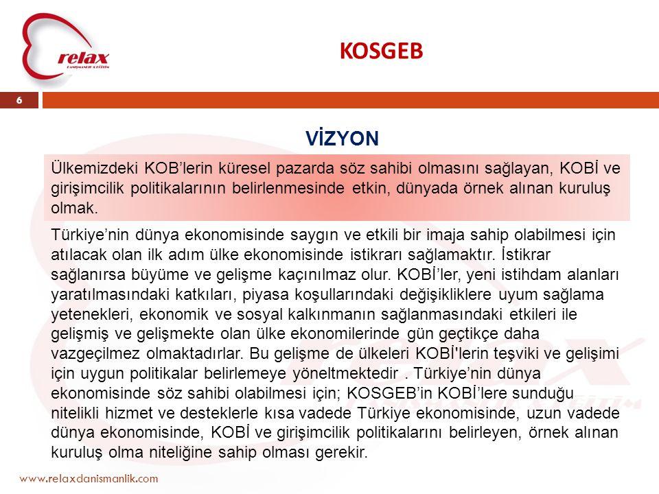 KOSGEB VİZYON.