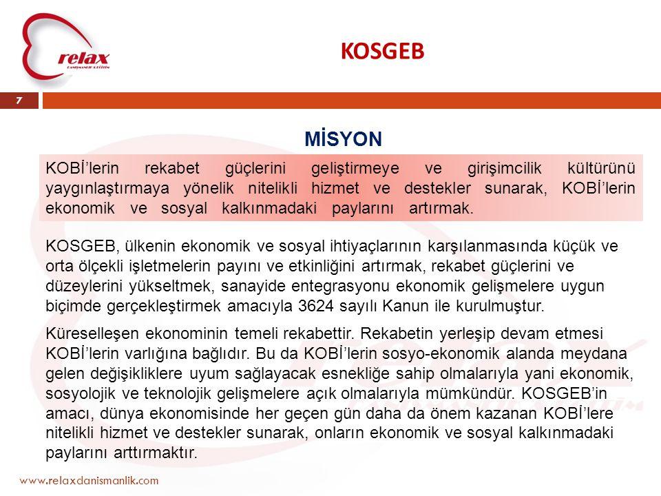 KOSGEB MİSYON.