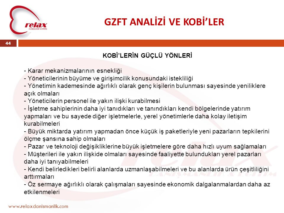 GZFT ANALİZİ VE KOBİ'LER